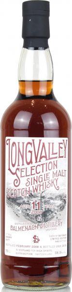 Balmenach 11 Jahre 2008/2019 Sherry Cask LongValley Selection 56,5% vol.