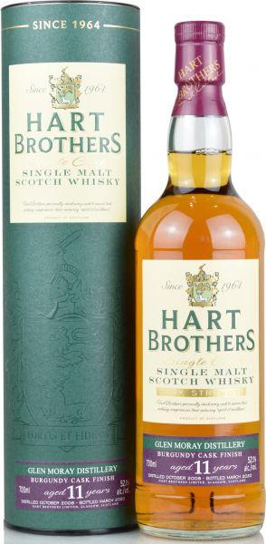 Glen Moray 11 Jahre 2008/2020 Burgundy Cask Hart Brothers 52,1% vol.