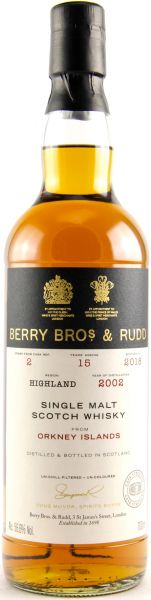 Orkney 15 Jahre 2002/2018 Sherry Cask Berry Bros. & Rudd #2 56,6% vol.