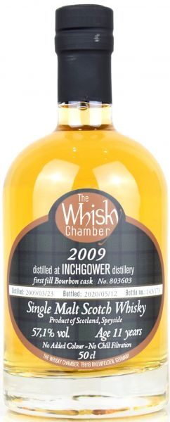 Inchgower 11 Jahre 2009/2020 1st Fill Bourbon The Whisky Chamber 57,1% vol.