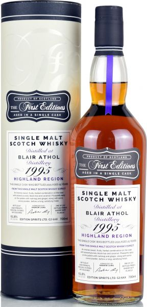 Blair Athol 25 Jahre 1995/2021 Sherry Cask First Editions 61,8% vol.