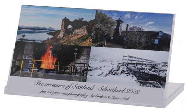 "Tischkalender ""The treasues of Scotland - 2022"" in CD-Box"