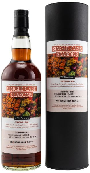 Strathmill 12 Jahre 2006/2020 Sherry Butt Single Cask Seasons Autumn 2020 50,5% vol.