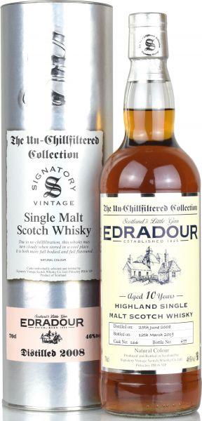 Edradour 10 Jahre 2008/2019 SV Un-Chillfiltered Collection #166