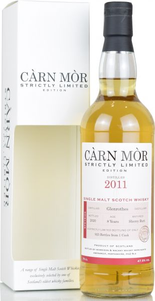 Glenrothes 8 Jahre 2011/2020 Sherry Cask Carn Mor Strictly Limited 47,5% vol.