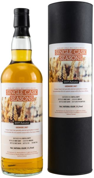 Ardmore 12 Jahre 2007/2019 Sherry Single Cask Seasons Autumn 2019 51,3% vol.