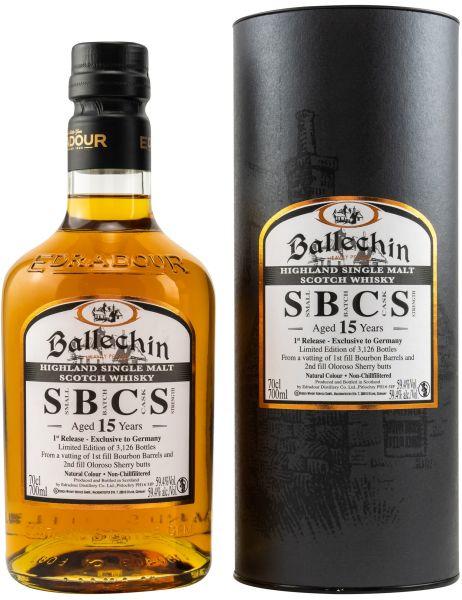 Ballechin 15 Jahre Small Batch Cask Strength 1st Release 59,4% vol.