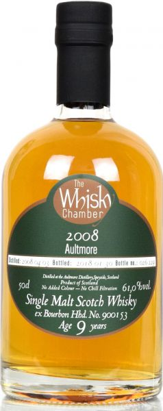 Aultmore 9 Jahre 2008/2018 The Whisky Chamber 61,0% vol.