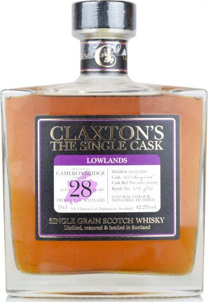 Cameronbridge 28 Jahre 1992/2020 PX Sherry Cask Claxton's 42,2% vol.