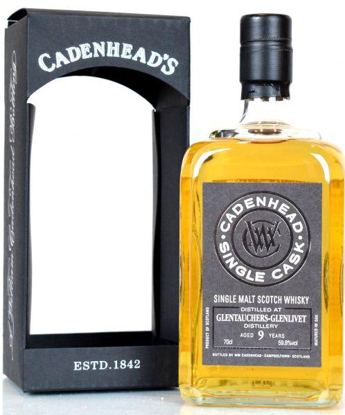 Glentauchers 9 Jahre 2009/2018 Single Cask Cadenhead's for Belgien 59,8% vol.