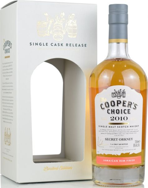 Secret Orkney 10 Jahre 2010/2020 Jamaican Rum Cask Cooper's Choice 56% vol.