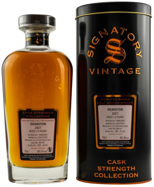 Deanston 13 Jahre 2007/2020 1st Fill Sherry Signatory Vintage Cask Strength Collection #900147