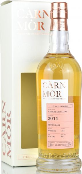 Tormore 9 Jahre 2011/2021 Peated Casks Carn Mor Strictly Limited 47,5% vol.