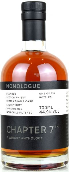 Blended 26 Jahre 1993/2020 Sherry Cask Chapter 7 MONOLOGUE #4 44,9% vol.