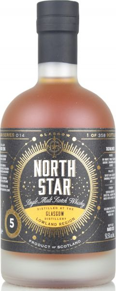 Glasgow 5 Jahre 2016/2021 Sherry Cask North Star Spirits #014 51,5% vol.