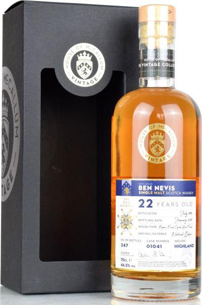 Ben Nevis 22 Jahre 1996/2019  Organic French Syrah Wine House of McCallum #01041 46,5% vol.