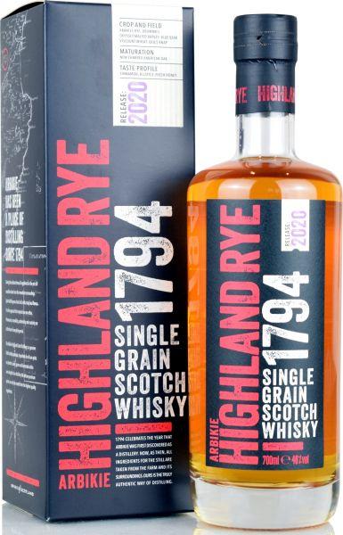 Arbikie Highland Rye 1794 Single Grain Whisky
