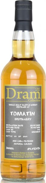 Tomatin 10 Jahre 2008/2018 Sherry Cask C&S Dram Collection #442 59,0% vol.