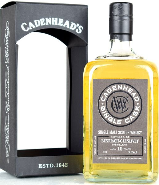 Benriach 10 Jahre 2008/2018 Cadenhead's for Japan 54,5% vol.