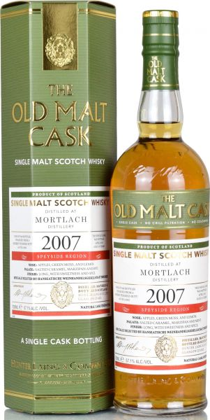 Mortlach 10 Jahre 2007/2018 Sherry Finish Hunter Laing Old Malt Cask 57,1% vol.