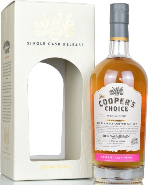 Bunnahabhain Sweet & Smoky 2019 Moscatel Cask Finish Cooper's Choice 56% vol.