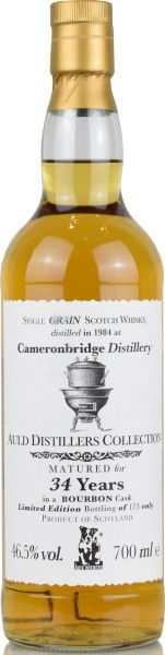 Cameronbridge 34 Jahre 1984 Jack Wiebers Auld Distillers Collection 46,5% vol.