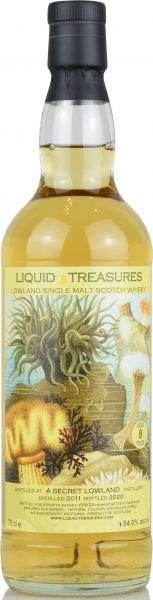 Secret Lowland Malt 8 Jahre 2011/2020 Liquid Treasures Living World 54% vol.
