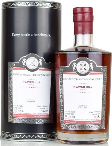 Heaven Hill 20 Jahre 1999/2019 Sherry Cask Malts of Scotland 55,2% vol.