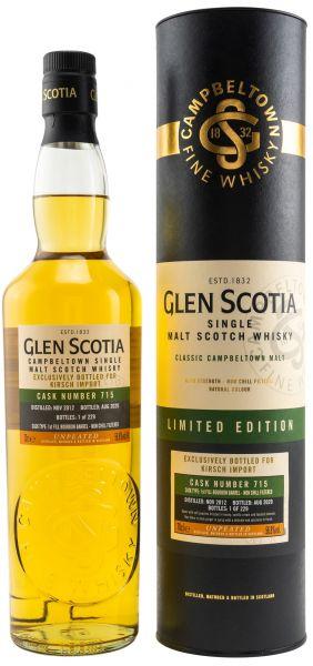 Glen Scotia 2012/2020 1st Fill Bourbon #715 56,8% vol.