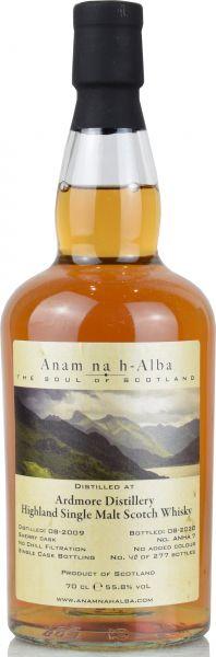 Ardmore 11 Jahre 2009/2020 PX Sherry Cask Anam na h-Alba 55,7% vol.