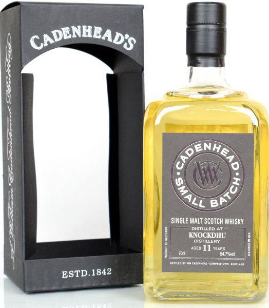 Knockdhu 11 Jahre 2006/2018 Cadenhead 54,7% vol.