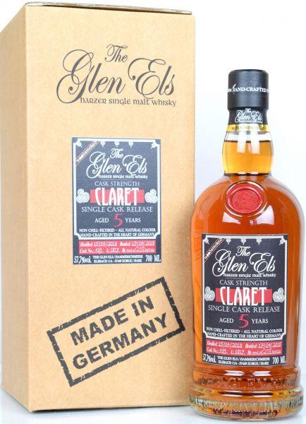 Glen Els 5 Jahre 2013/2018 Claret Single Cask Woodsmoked 57,7% vol.