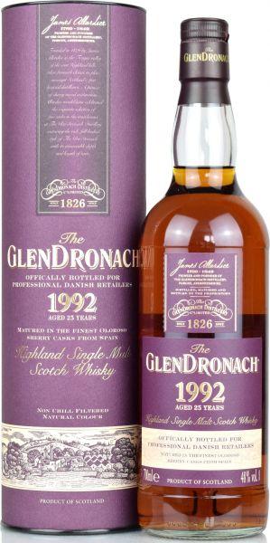 Glendronach 25 Jahre 1992/2018 Danish Retailers 48,0% vol.