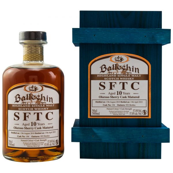 Ballechin 10 Jahre 2010/2021 Sherry Cask Straight from the Cask #194 57,8% vol.