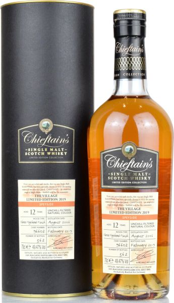 Speyside 12 Jahre 2006/2019 The Village 2019 Special Edition Chieftain's 49,47% vol.