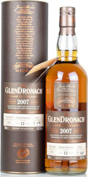 Glendronach 12 Jahre 2007/2019 Oloroso Single Cask for deinwhisky.de #6756 58,0% vol.