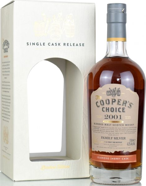 Cooper's Choice Family Silver 17 Jahre 2001/2019 1st Fill Oloroso 43,2% vol.