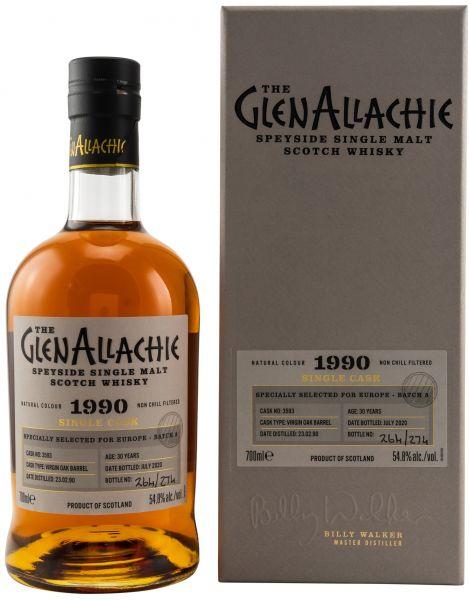 Glenallachie 30 Jahre 1990/2020 Virgin Oak Single Cask #3593 54,8% vol.