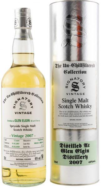 Glen Elgin 12 Jahre 2007/2020 SV Un-Chillfiltered Collection #800244+800245