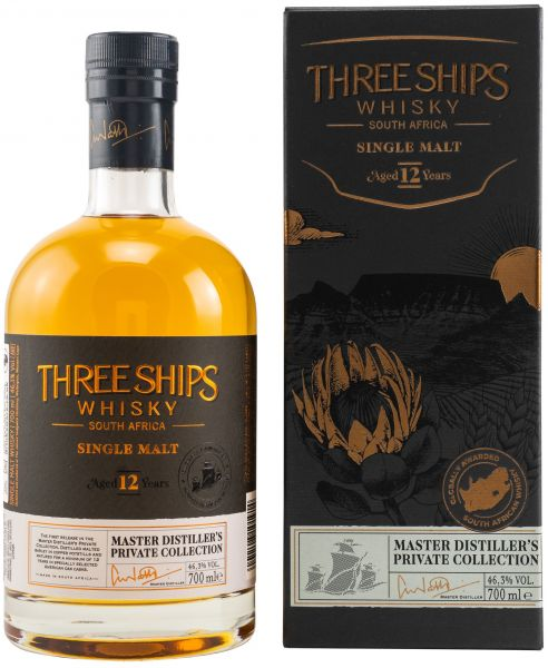 Three Ships 12 Jahre South African Single Malt 46,3% vol.