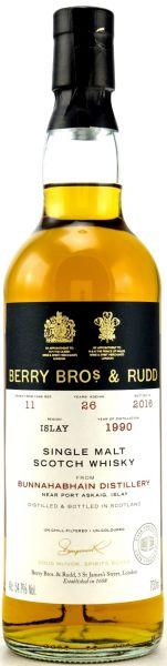 Bunnahabhain 26 Jahre 1990/2016 Berry Bros. & Rudd #11 54,7% vol.