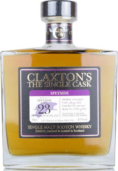 Speyside Distillery 23 Jahre 1996/2019 Sherry Cask Claxton's 57% vol.