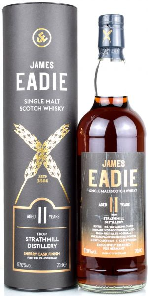 Strathmill 11 Jahre 2009/2020 1st Fill PX Sherry James Eadie 57% vol.