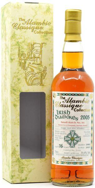 Irish Diamonds 16 Jahre 2005/2021 Batch No. 1 Burgundy Wine Cask Alambic Classique 59,4% vol.
