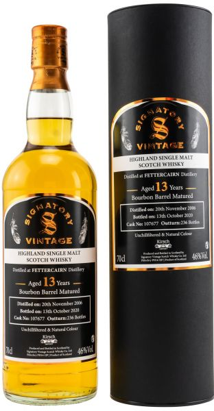 Fettercairn 13 Jahre 2006/2020 Signatory Vintage Un-Chillfiltered for Germany #107677