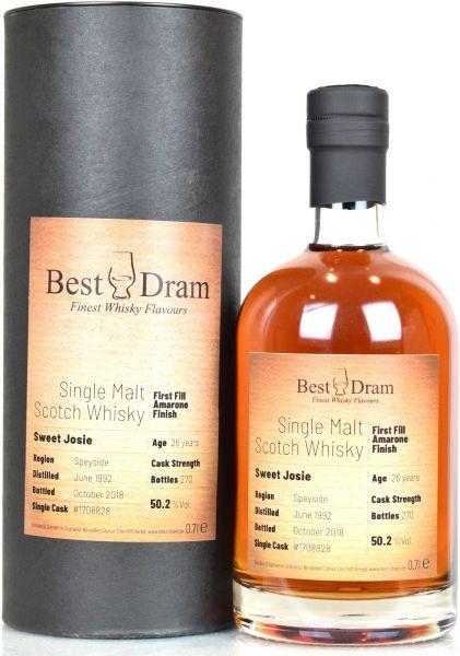 Sweet Josie 26 Jahre 1992/2018 1st Fill Amarone Finish Best Dram 50,2% vol.