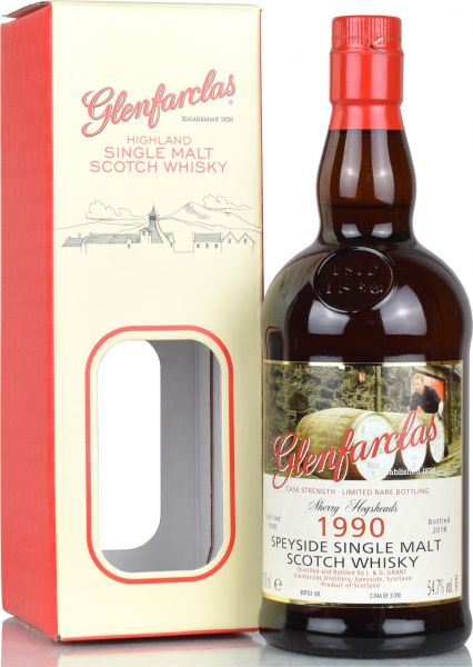 Glenfarclas 1990/2018 Limited Rare Bottling Cask Strength 54,7% vol.