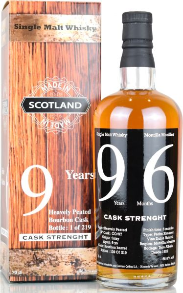 Islay Single Malt Whisky 9 Jahre PX Sherry Finish Corman-Collins 56,6% vol.