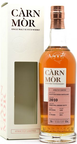 Glentauchers 11 Jahre 2010/2021 Sherry Cask Carn Mor Strictly Limited 47,5% vol.