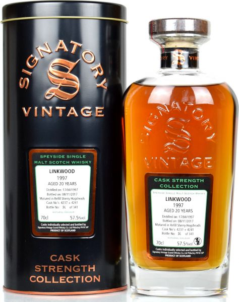 Linkwood 20 Jahre 1997/2017 Signatory Vintage Cask Strength Collection #4237+4241